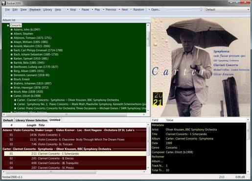 Foobar2000 using Columns UI
