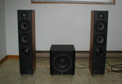 JMLab Chorus 715 speaker + B&W ASW 600 sub