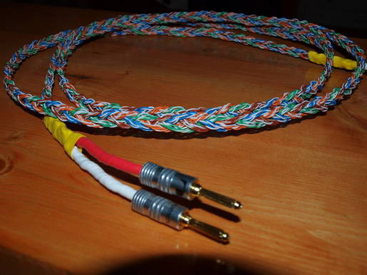 8 ft. Cat 5 speaker cables w/Nakamichi and Axiom terminals